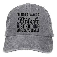 2019 New Cheap Baseball Caps I'M Not Always A Bitch Just ...