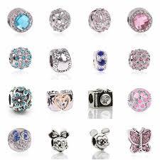 <b>AIFEILI New</b> Fashion Perles Jewelry <b>Silver</b> Color Cute Mickey ...