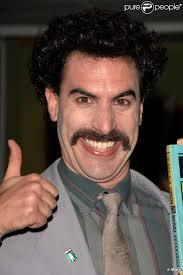 Sacha Baron Cohen en Borat. 4/11. News publiée le Dimanche 19 Juillet 2009 à 15:03. Sacha Baron Cohen en Borat Dans cette photo : Sacha Baron Cohen - 251486-sacha-baron-cohen-en-borat-637x0-2