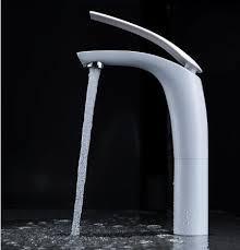 new arriva brass white baking finish basin faucet fashion 6 colors hot and cold water mixer tap tap bathroom basin mixer