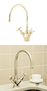 perrin rowe lifestyle: perrin amp rowe  minoan mixer kitchen tap with crosshead handles