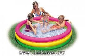 <b>Детский</b> надувной <b>бассейн</b> 'Цвета заката' 114х25см (надувное ...