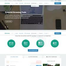 latest responsive wordpress themes for job sites 2017 wpjobus job portal theme image