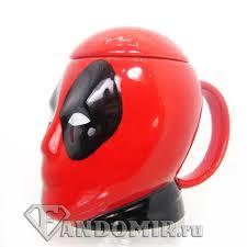 <b>Кружка</b> ДЭДПУЛ <b>3D</b> купить в интернет-магазине FandoMir