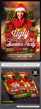 ugly christmas sweater party flyer template by industrykidz ugly christmas sweater party flyer template by industrykidz graphicriver
