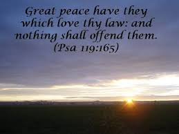 Image result for images: Whoever loves your law will have abundant peace