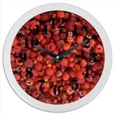 "Часы круглые из пластика ""<b>Дикая малина</b>"" #2618039 от piranya ..."