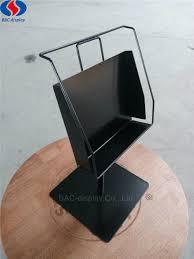 Durable <b>Metal</b> Countertop Hardware Pegboard Single <b>Bookshelf</b> ...