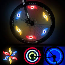 LEDGLE <b>Colorful Bike Wheel</b> Lights <b>Spoke</b> Light 6 Pack LED ...