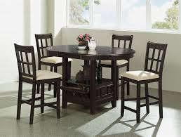 cherry counter height piece:  piece round counter height table set in dark cherry finish by coaster