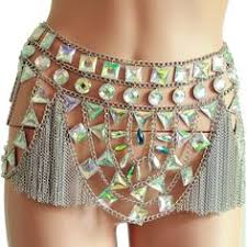 <b>Chran Sequin</b> Bra Skirt Body Chain Set <b>Sexy Mesh</b> Chain Beach ...
