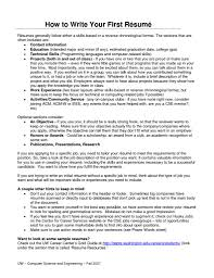 how to write your first resume getessay biz resume for your first job in how to write your first by howto how to write your first