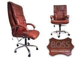 <b>Офисное массажное кресло EGO</b> BOSS EG1001 Махагон в ...