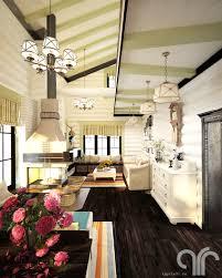 Кухня-<b>гостиная прованс</b> в деревянном доме: yura_koshel ...