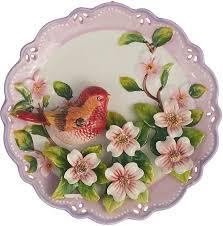 <b>Декоративная тарелка Lefard Птица</b>, 59-172, розовый, 20 х 20 х 5 ...