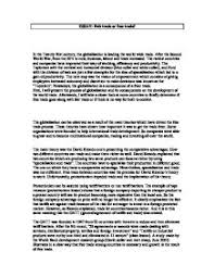 essay  fair trade or free trade    a level economics   marked by    page  zoom in marked by a teacher