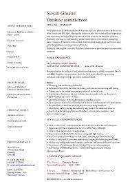 database administrator cv   hashdocdatabase administrator cv