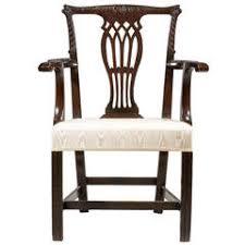 chippendale design elbow chair art deco desk chair office side armchair