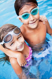 Regardless if I like it or not, bathing suits are essential for the summer and they need to be worn on the pool deck and on the beach. - kids-pool