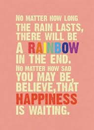 Image result for quote on rainbows