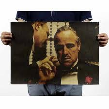 LAITANG <b>Godfather</b> Kraft Paper <b>Retro</b> Poster <b>Wall</b> Stickers <b>Vintage</b> ...