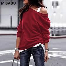 2019 <b>MISAUU Female</b> Jumper Sweatshirt Sexy Off Shoulder ...