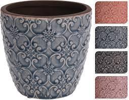 <b>Кашпо керамическое для</b> цветов, 13,5 х 12,5 см в ассортименте ...