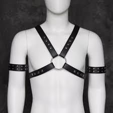 TiaoBug Black <b>PU</b> Leather Adjustable Sexy <b>Men Bondage</b> Belt Body ...