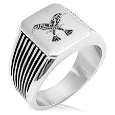<b>Stainless</b> Steel Huginn & Muninn <b>Odin's</b> Twin <b>Ravens</b> Needle Stripe ...