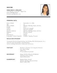 resume doc standard resume format download a resume format