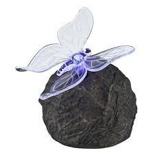 best sale Outdoor LED <b>Solar Lamp</b> Stone <b>Butterfly</b> Design Pond ...