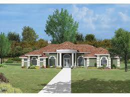 Berkley Spanish Home Plan D    House Plans and MoreFocal Curved Portico Draws The Eye Towards Formal Design