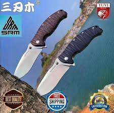 <b>New Sanrenmu Srm 1006</b> 1005 Folding Pocket Knife 14c28n ...