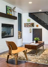rustic style living room clever: modern brick interior design with awesome