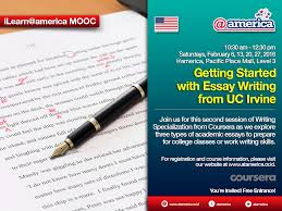 ilearn america mooc getting started essay writing from uc description