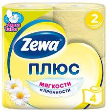 <b>Туалетная бумага Zewa Плюс</b> Ромашка двухслойная — купить по ...