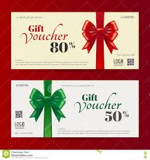 elegant christmas gift voucher or gift card template stock vector elegant christmas gift card or gift voucher template stock photo