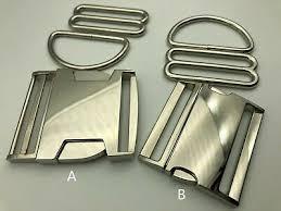 1-5 <b>sets</b>, 2'' (<b>50mm</b>) Dog Collar Hardware Kits- <b>metal buckle sets</b>, A ...