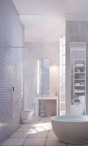 spa bathroom showers: a cool light color scheme and disappearing designs make this spa bathroom clean and calming