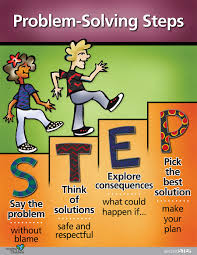 committee for children > second step > elementary > grade  grade 2 problem solving steps poster