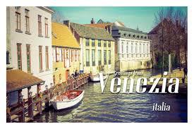 postcard templates examples lucidpress greetings from venezia postcard