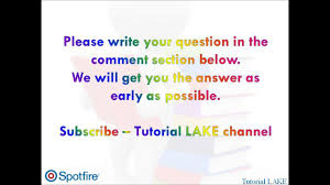 tibco spotfire interview questions answers part 1 of 50 07 25