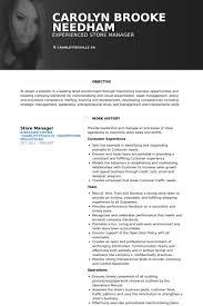 store manager resume samples   visualcv resume samples databasestore manager resume samples