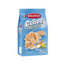 <b>Вафли Balocco Milk</b> Vanilla кубики 125 г (1002333690) - купить со ...