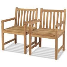 <b>Garden</b> & <b>Patio</b> vidaXL 2x Teak <b>Outdoor Stackable Chairs Patio</b> ...