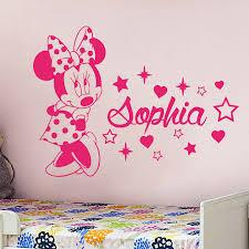 <b>YOYOYU</b> Minnie Mouse Vinyl Wall Sticker <b>Kids</b> Room Personalised ...