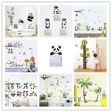 % Cartoon <b>Forest</b> Panda bamboo Birds <b>tree flowers</b> car Wall ...