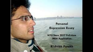 nyu stern personal expression essay rishabh parakh nyu stern personal expression essay rishabh parakh
