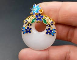 <b>Natural Xinjiang</b> Kunlun white jade <b>drop</b> pendant ring AAA001 | eBay