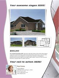 real estate flyer template purple